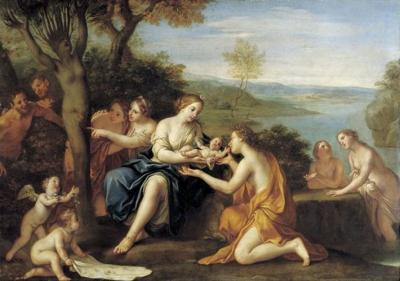 Birth of Adonis, oil on copper painting by Marcantonio Franceschini, c. 1685-90, Staatliche Kunstsammlungen, Dresden