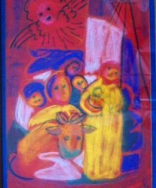 Weihnachten, Margret Hofheinz-Doring, Pastell, 1964 (WV-Nr.3248)