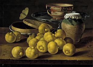 Bodegón - limas, caja de dulce y recipientes (Luis Meléndez)