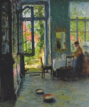 Gotthardt Kuehl Das Gartenzimmer c1897