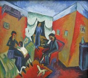 Ernst Ludwig Kirchner Interieur 1915-1