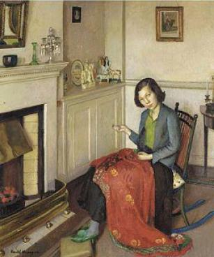 Harold Harvey The red silk shawl 1932