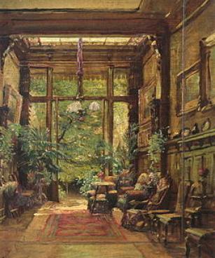 Marie Dücker Interieur einer Villa