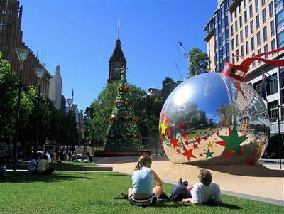 Christmas in Melbourne scene