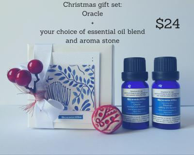 Scentcillo Christmas gift set with colourful ceramic aroma stone