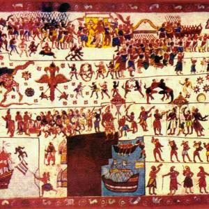 13th Century Salagama Brahakmana Flag, Sarathsilva via Wikimedia commons.