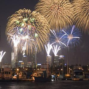 Perth New Years fireworks