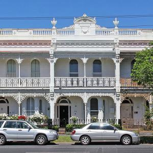 Victorian terrace on Canterbury Road, Middle Park, Melbourne.